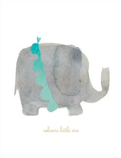 Welcome Little One Elephant 4.25x5.5|E Frances Paper