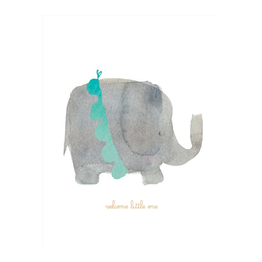 Welcome Little One Elephant|E Frances Paper