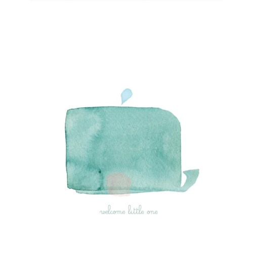 Welcome Little One Whale|E Frances Paper