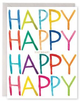 Really Happy Birthday|E Frances Paper