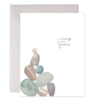 Peace Rocks 4.25x5.5 |E Frances Paper
