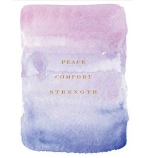Peace, Comfort, Strength 4.25x5.5|E Frances Paper
