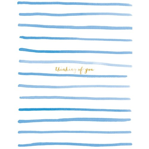 Stripes Thinking of You 4.25x5.5|E Frances Paper