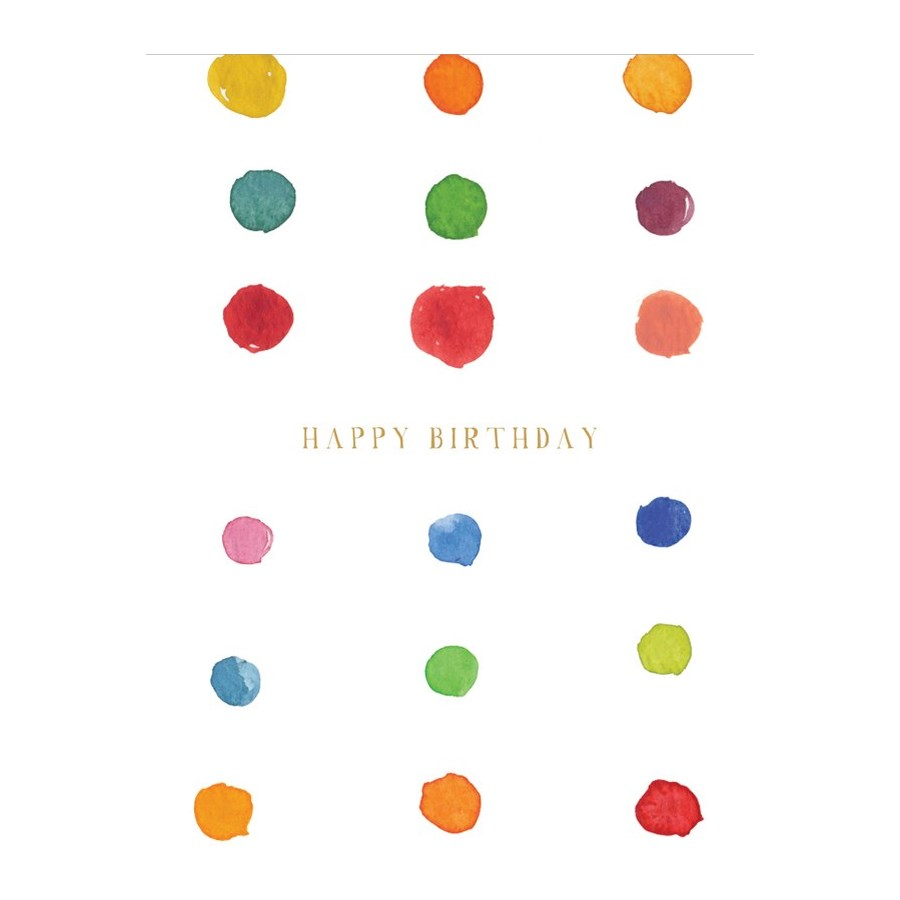 Birthday Dots|E Frances Paper