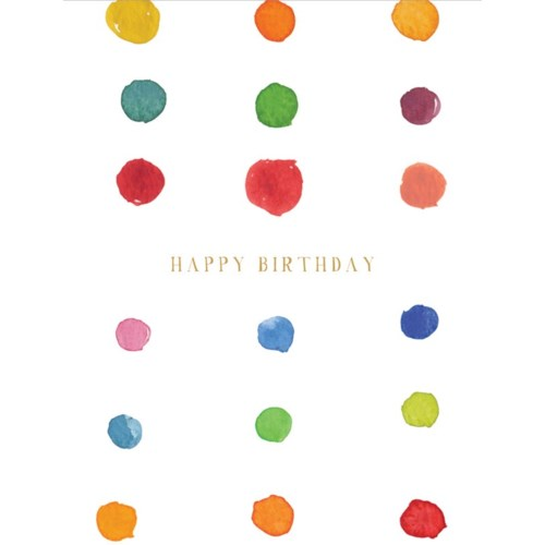 Birthday Dots 4.25x5.5|E Frances Paper