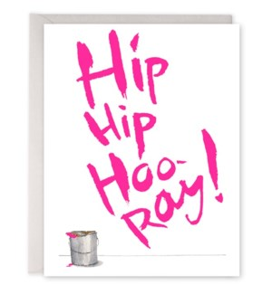 Hip Hip Hooray 4.25 x 5.5 |E Frances Paper