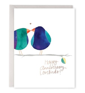 Lovebirds Anniversary 4.25x5.5|E Frances Paper