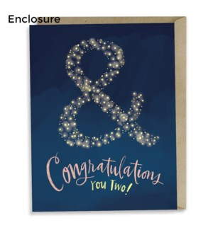 Ampersand Congrats Enclosure|Emily McDowell