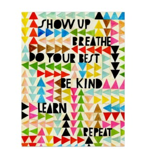 Show Up Breathe|Emily McDowell