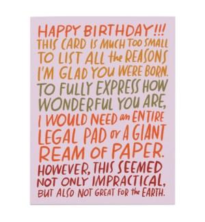 Ream of Paper Birthday|Emily McDowell
