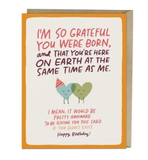 Grateful You Were Born Birthday|Emily McDowell