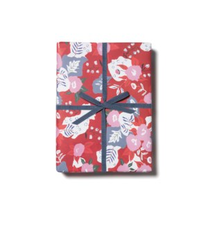 Ruby Red Flower roll - 3 sheets