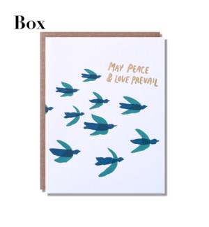Peace & Love Prevail - Boxed set of 6