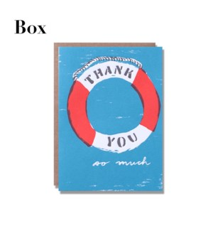 Life Preserver Thank You-Boxed set of 6