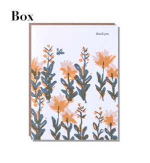 Flower Bee Thank You-Boxed set of 6