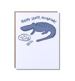 Happy Seder Alligator
