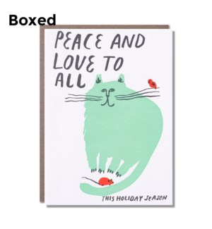 Peace And Love Cat- Boxed set of 6