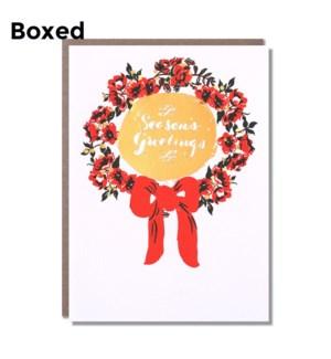 Season'S Greetings Wreath- Boxed set of 6