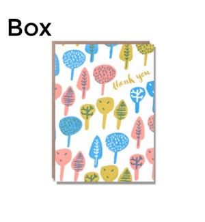 Pretty Tree Thank You-Boxed set of 6