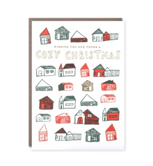 Cozy Christmas Houses- Boxed