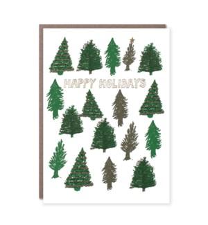 Happy Holidays Trees
