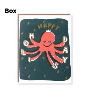 Octopus Holiday-Boxed set of 6