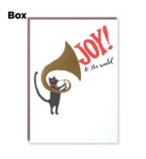 Tuba Cat Joy-Boxed set of 6