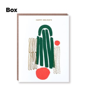 Happy Holidays Bell-Boxed set of 6