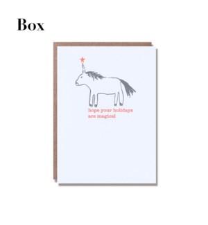 Unicorn Holiday - Boxed set of 6