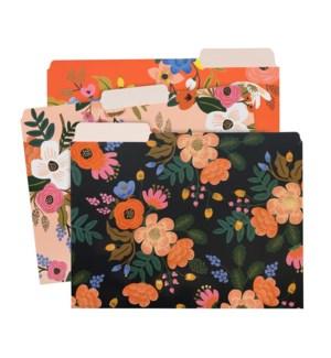 Lively Floral File Folders