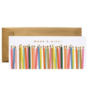 Make a Wish Candles No. 10 Card