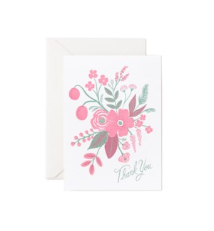 Boxed Set of Rosy Thank You 4Bar Cards