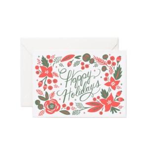 Boxed Set of Poinsettia Card