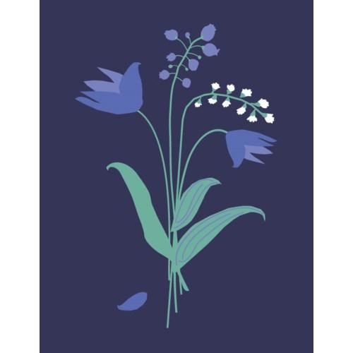 blue bouquet 4.25x5.5|Great Arrow
