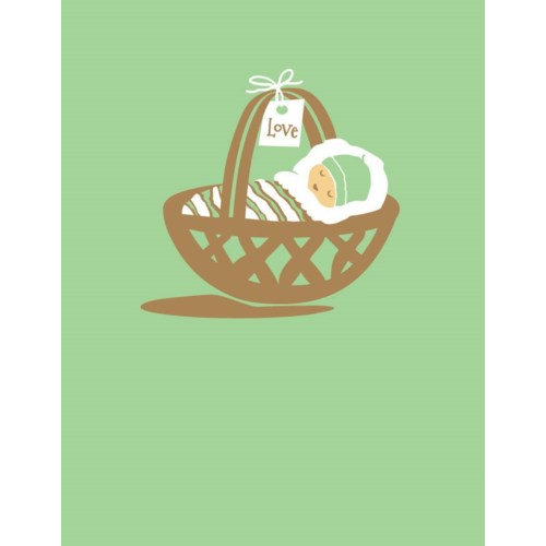 baby in basket 4.25x5.5|Great Arrow