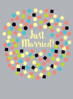 just married confetti 5 x7|Great Arrow