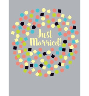 just married confetti 5 x7|Great Arrow