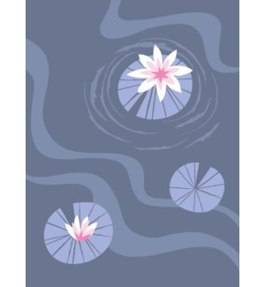 three lily pond ripples|Great Arrow 5x7