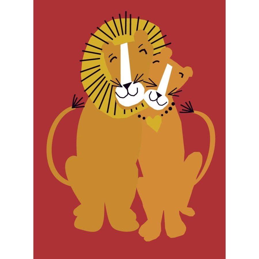 lion couple Great Arrow 5x7