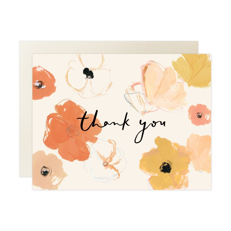 Poppies Thank You Box Set of 8