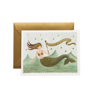 Boxed set of Vintage Mermaid Birthday cards