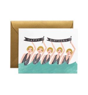 Synchronized Birthday Card