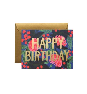Boxed set of Floral Foil Birthday cards