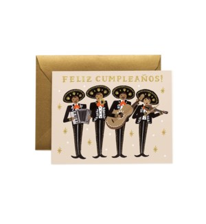Mariachi Birthday Card