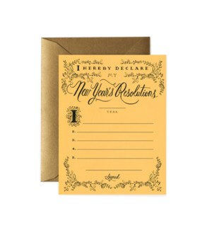 Boxed set of New Year's Resolution Constitution cards