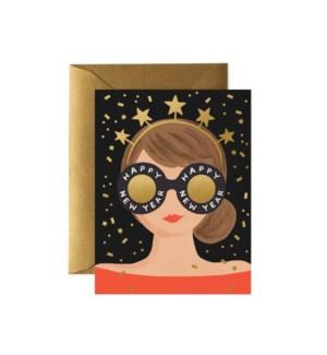 New Year Girl card