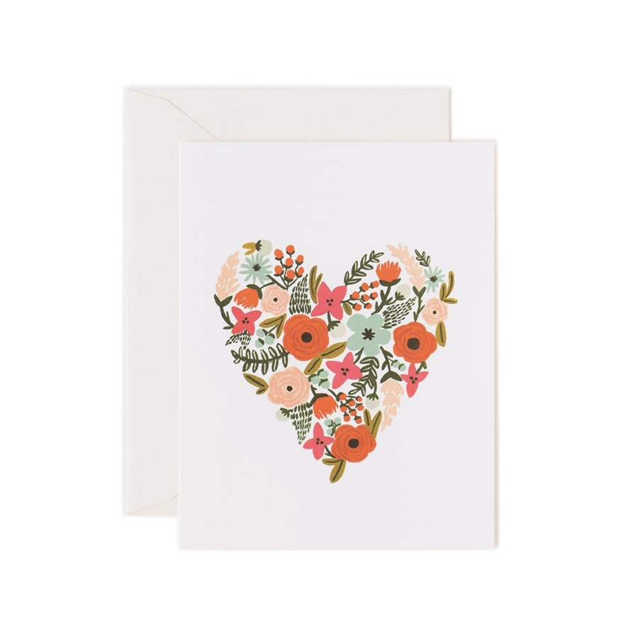 Boxed set of Floral Heart cards