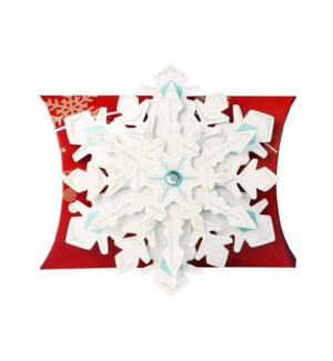 Snowflake Red Gift Pouch