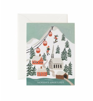 Boxed set of Holiday Snow Scene cards