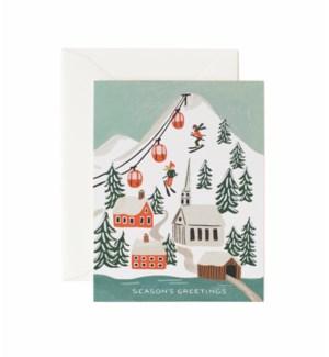 Holiday Snow Scene Card